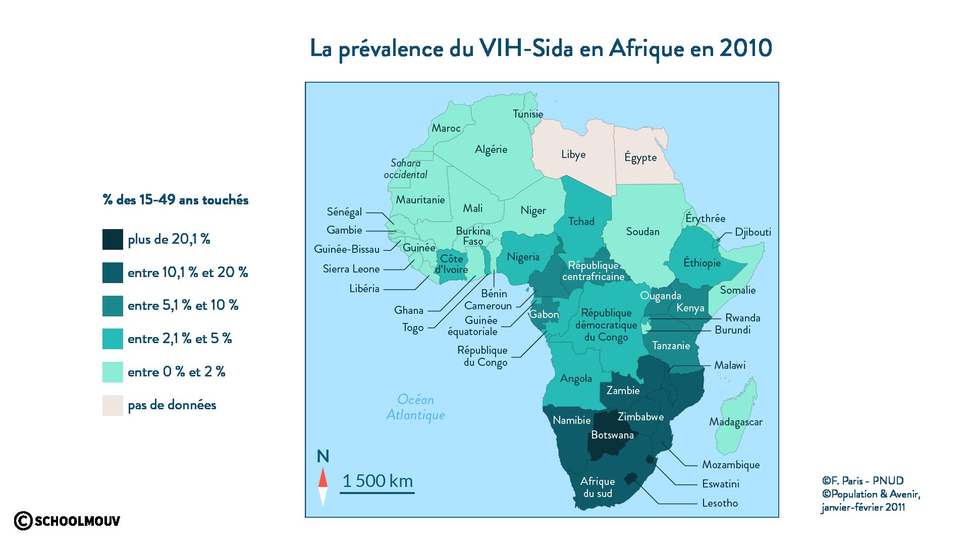 La prévalence du Sida en Afrique - géo - SchoolMouv - 2de