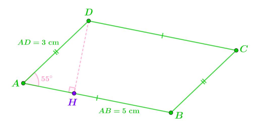 Mathématiques seconde géométrie plane projeté orthogonal aire parallélogramme