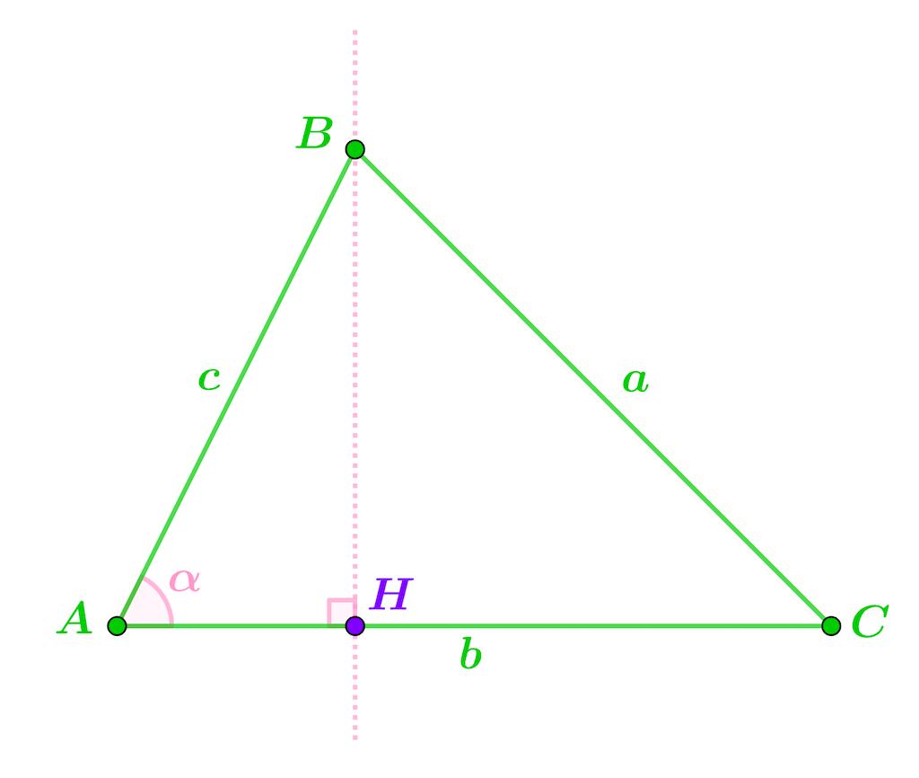 Mathématiques seconde géométrie plane théorème d'Al-Kashi