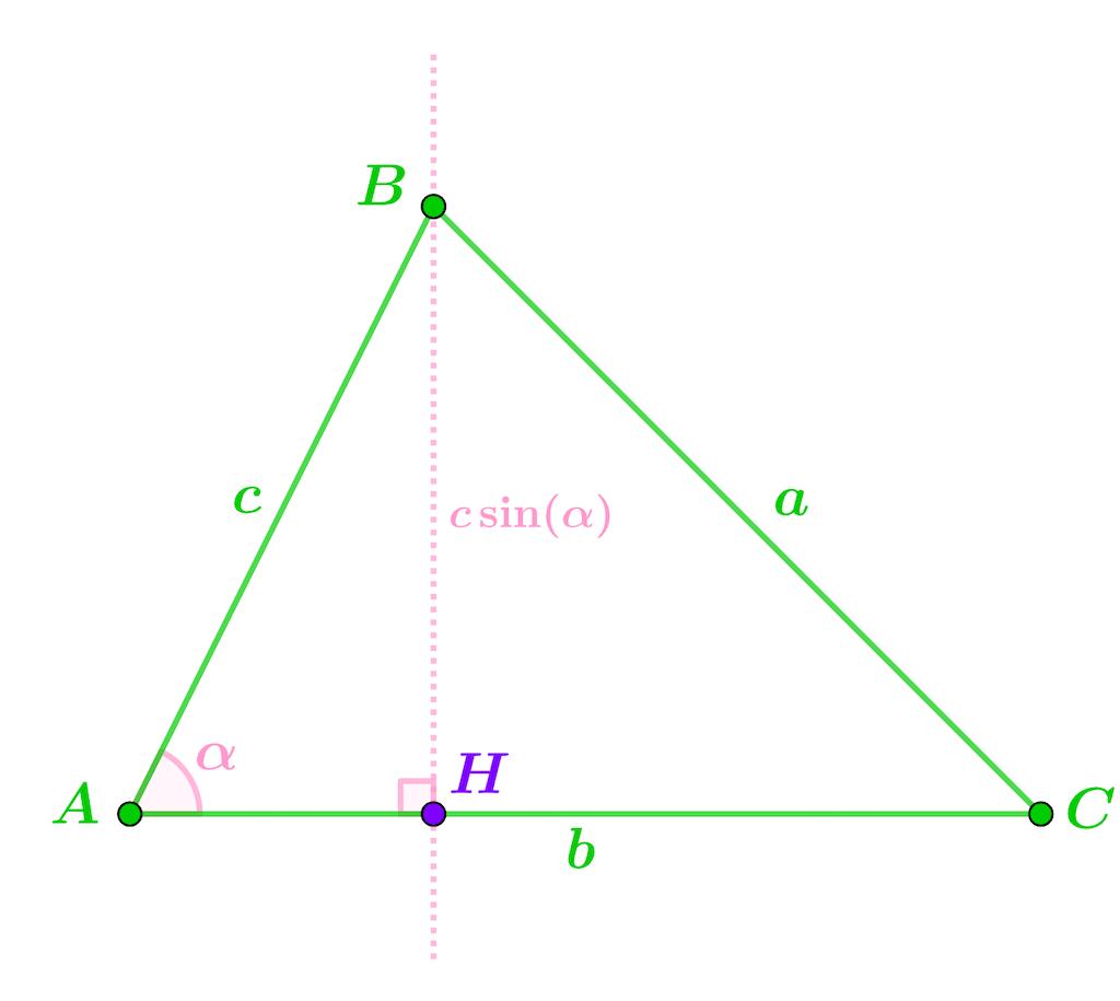 Mathématiques seconde géométrie plane aire triangle
