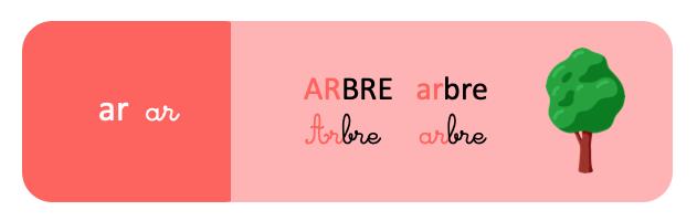 syllabe ar - arbre - schoolmouv - apprentissage de la lecture - CP