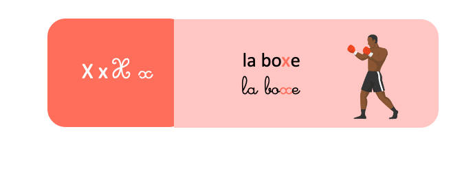 lettre x français lecture