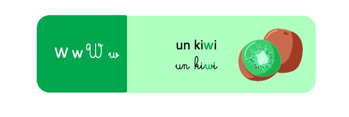 lettre w français lecture