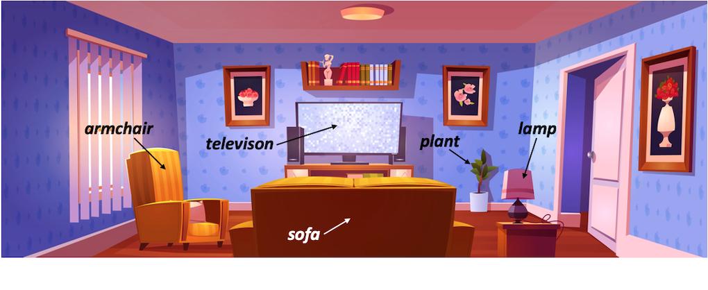 living room salon anglais