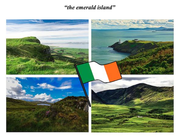 emerald island Irlande verte