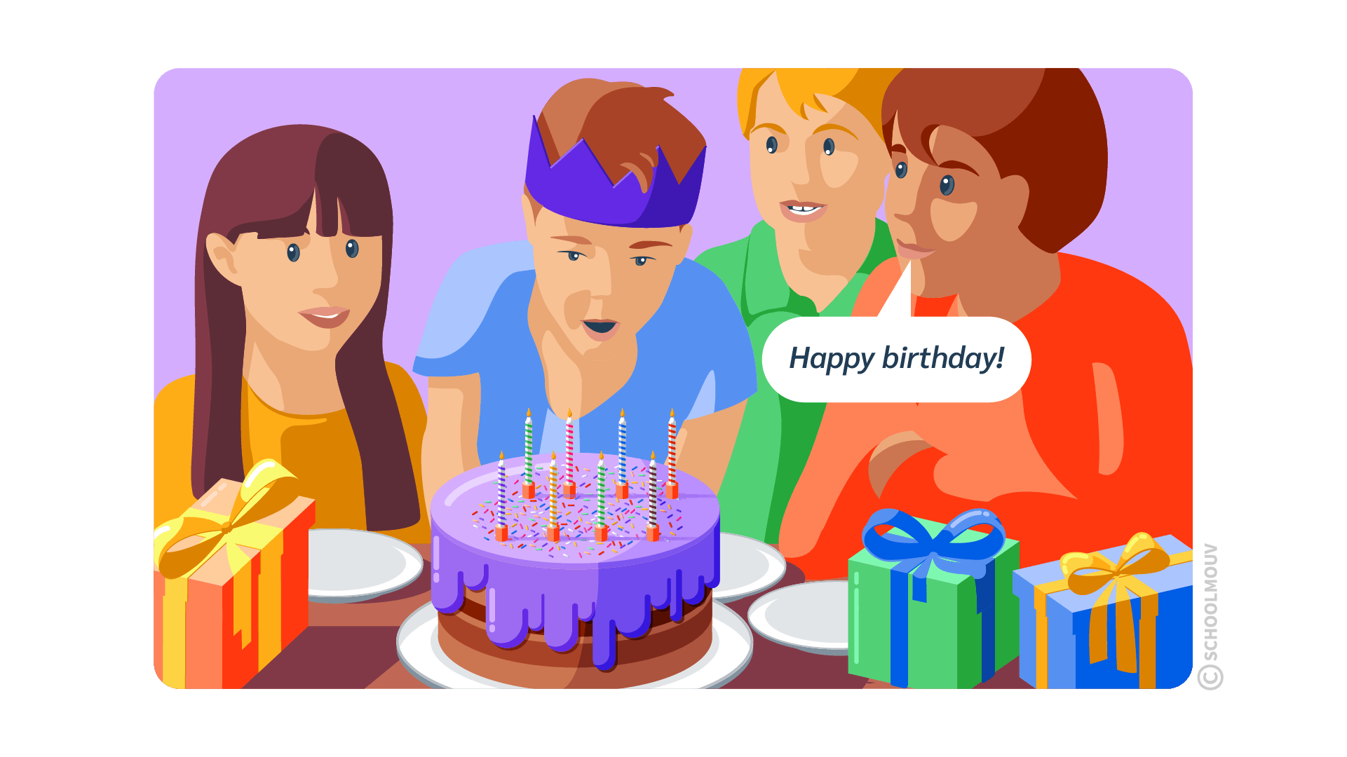happy birthday joyeux anniversaire anglais