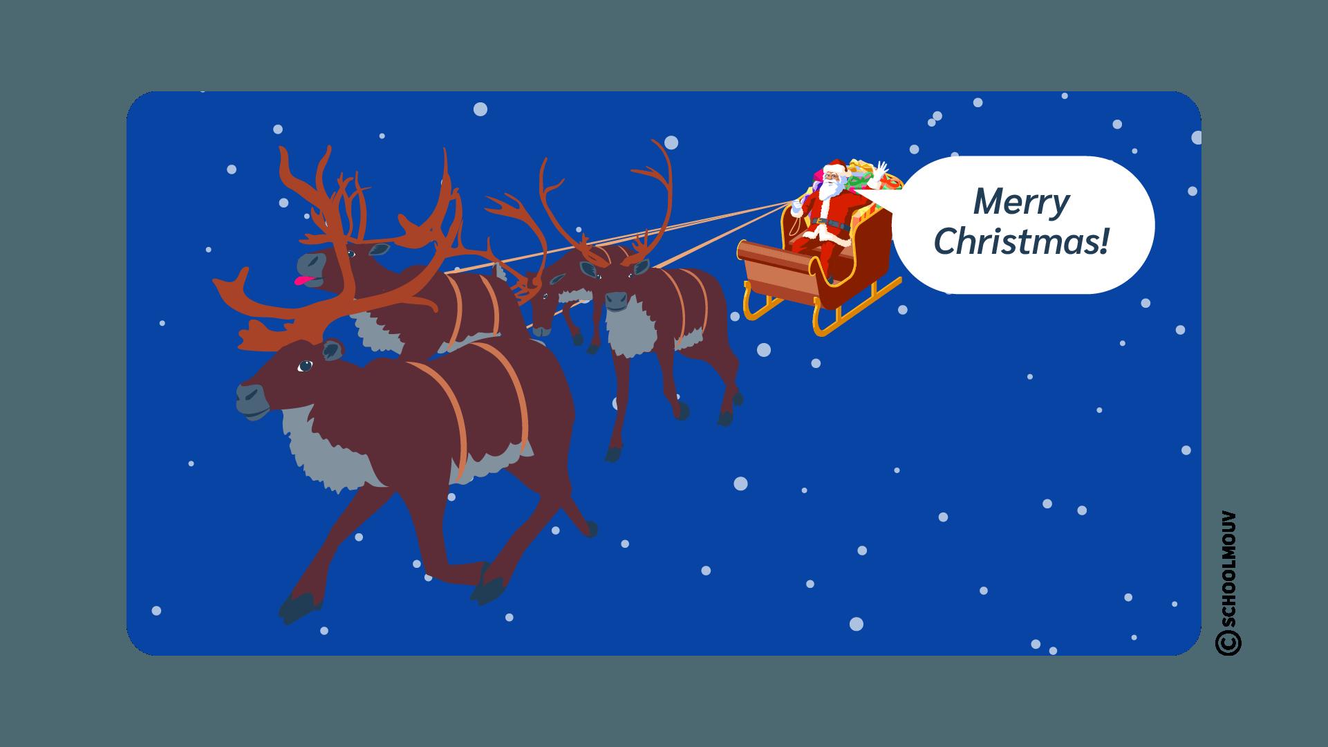 merry christmas anglais souhaiter fêtes