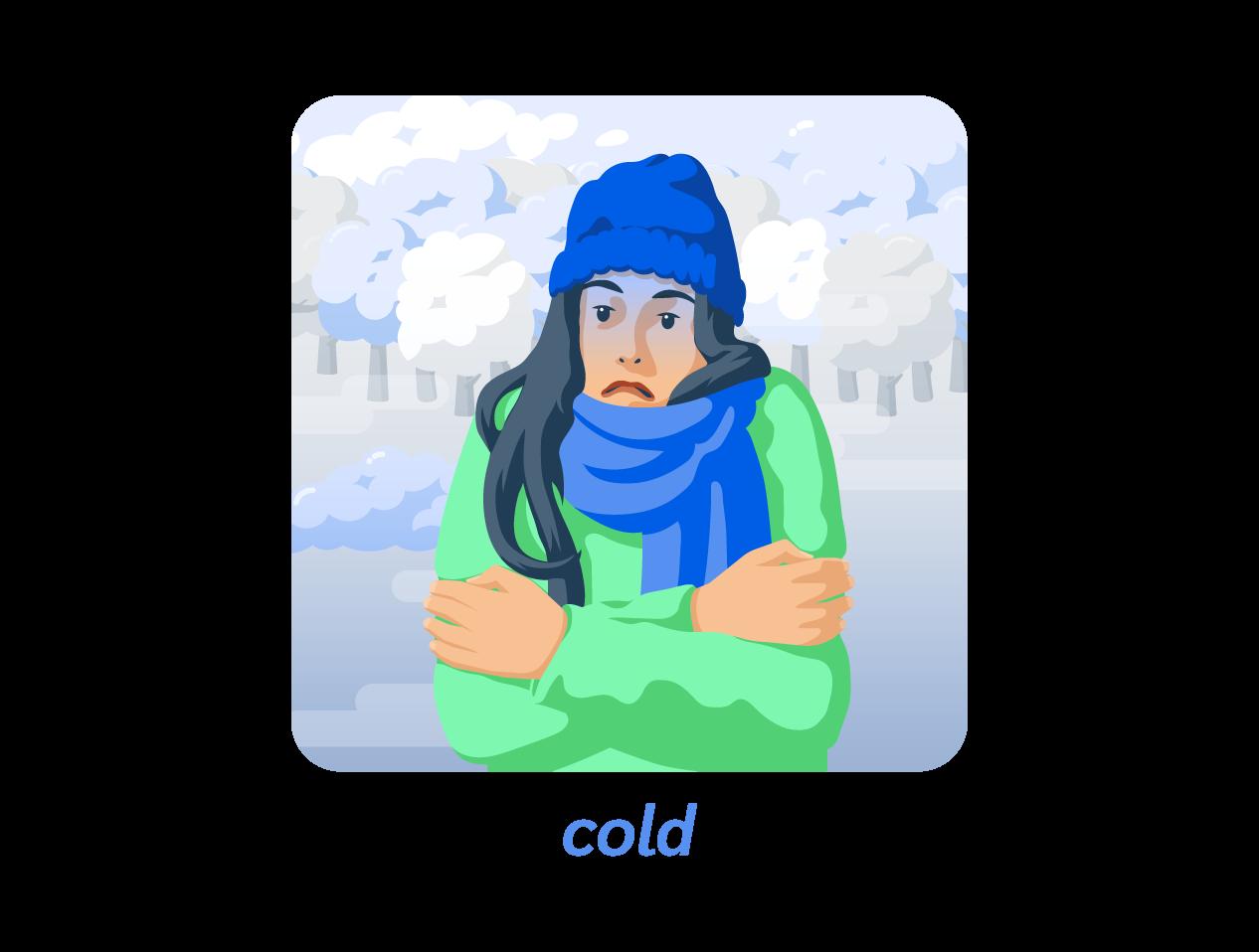 cold froid anglais météo weather