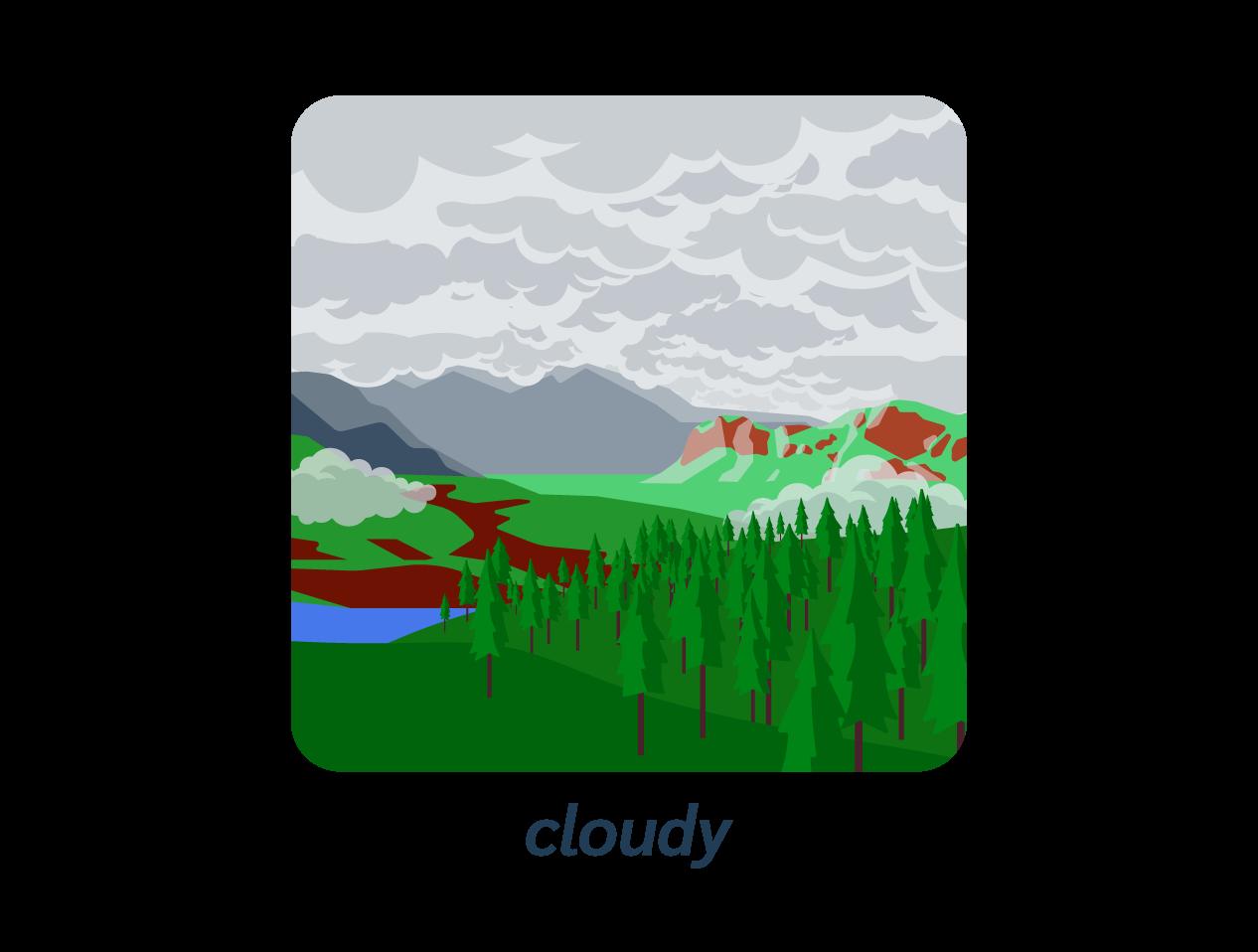 cloudy nuage anglais météo weather