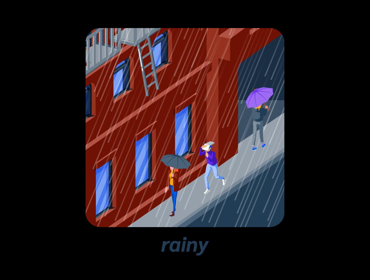 rainy pluie anglais météo weather