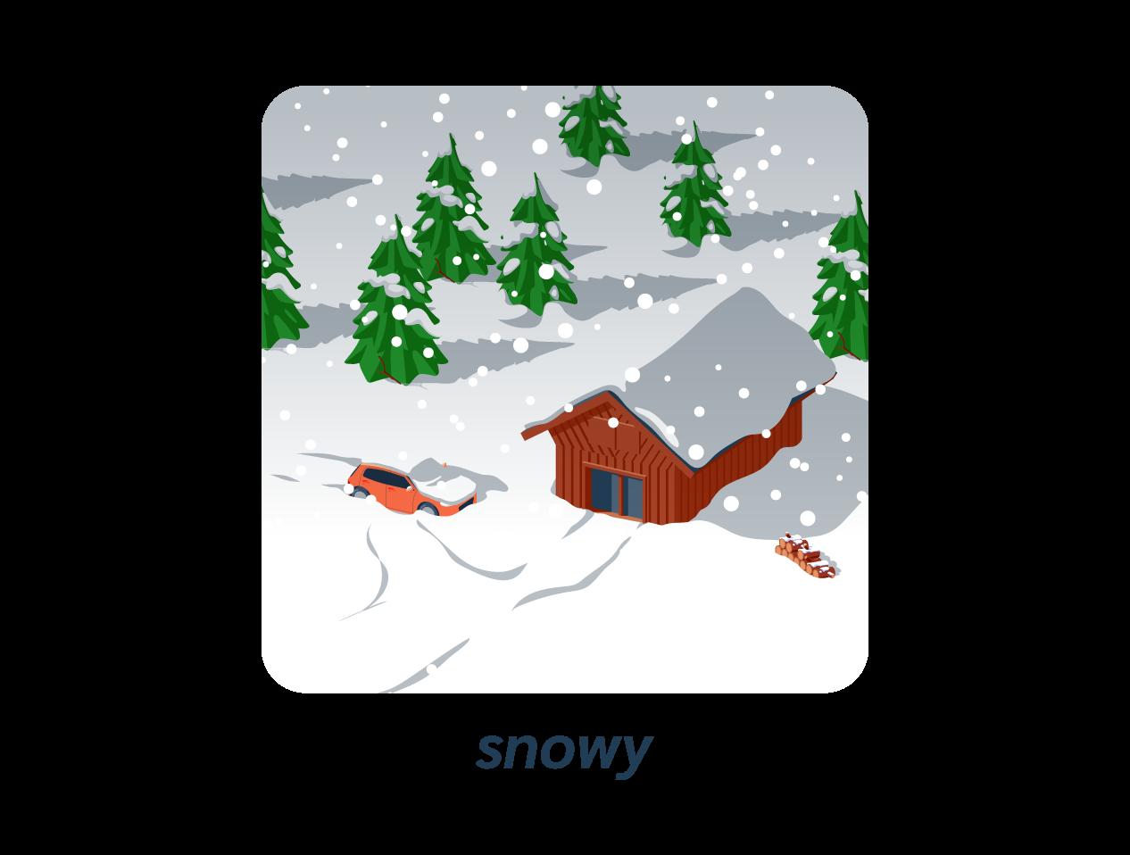 snowy neige anglais météo weather