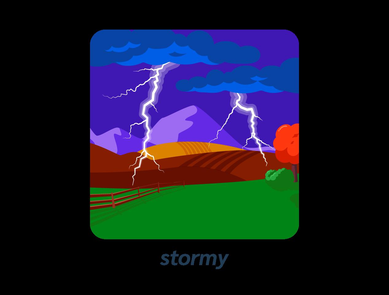 stormy orage anglais météo weather
