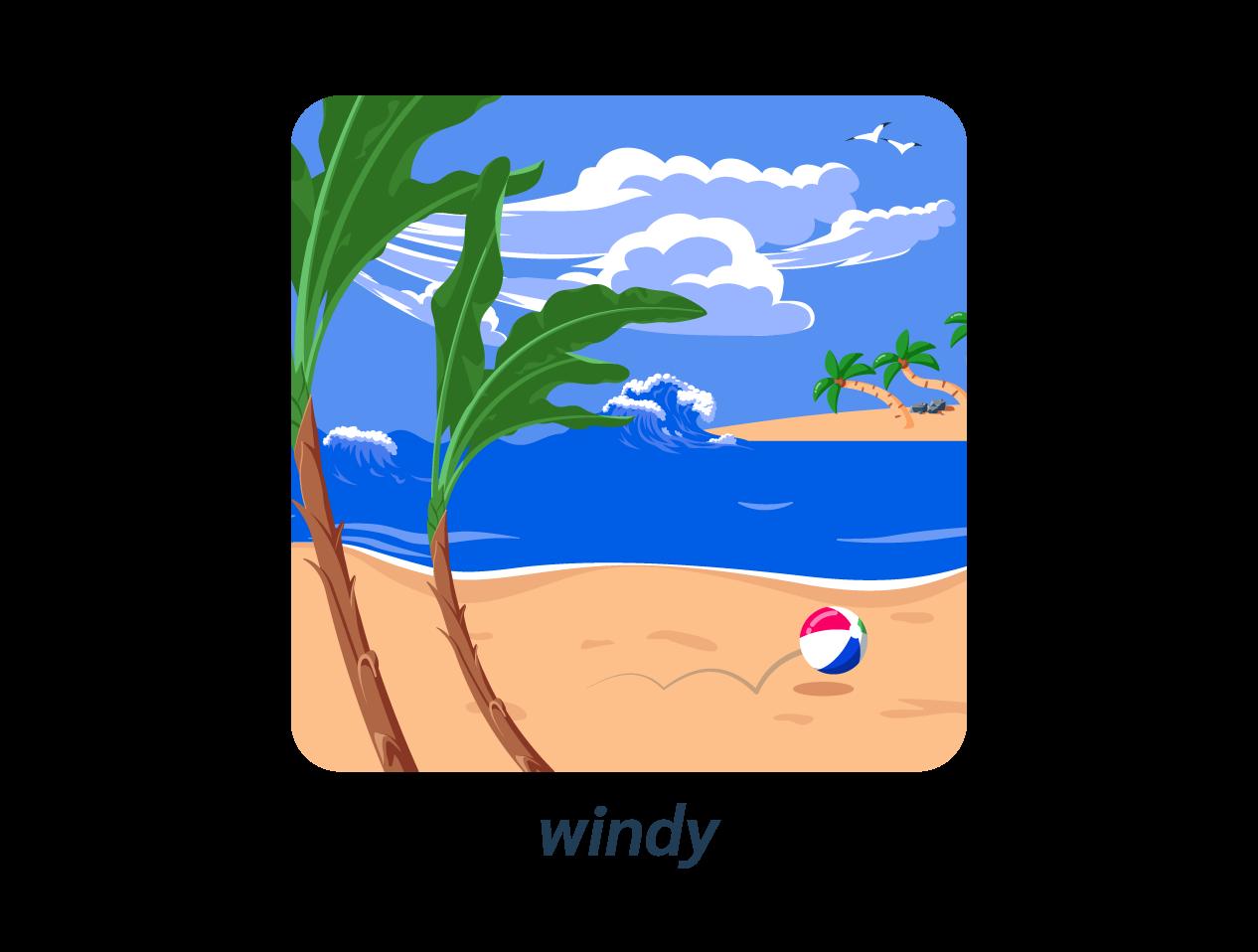 windy vent anglais météo weather