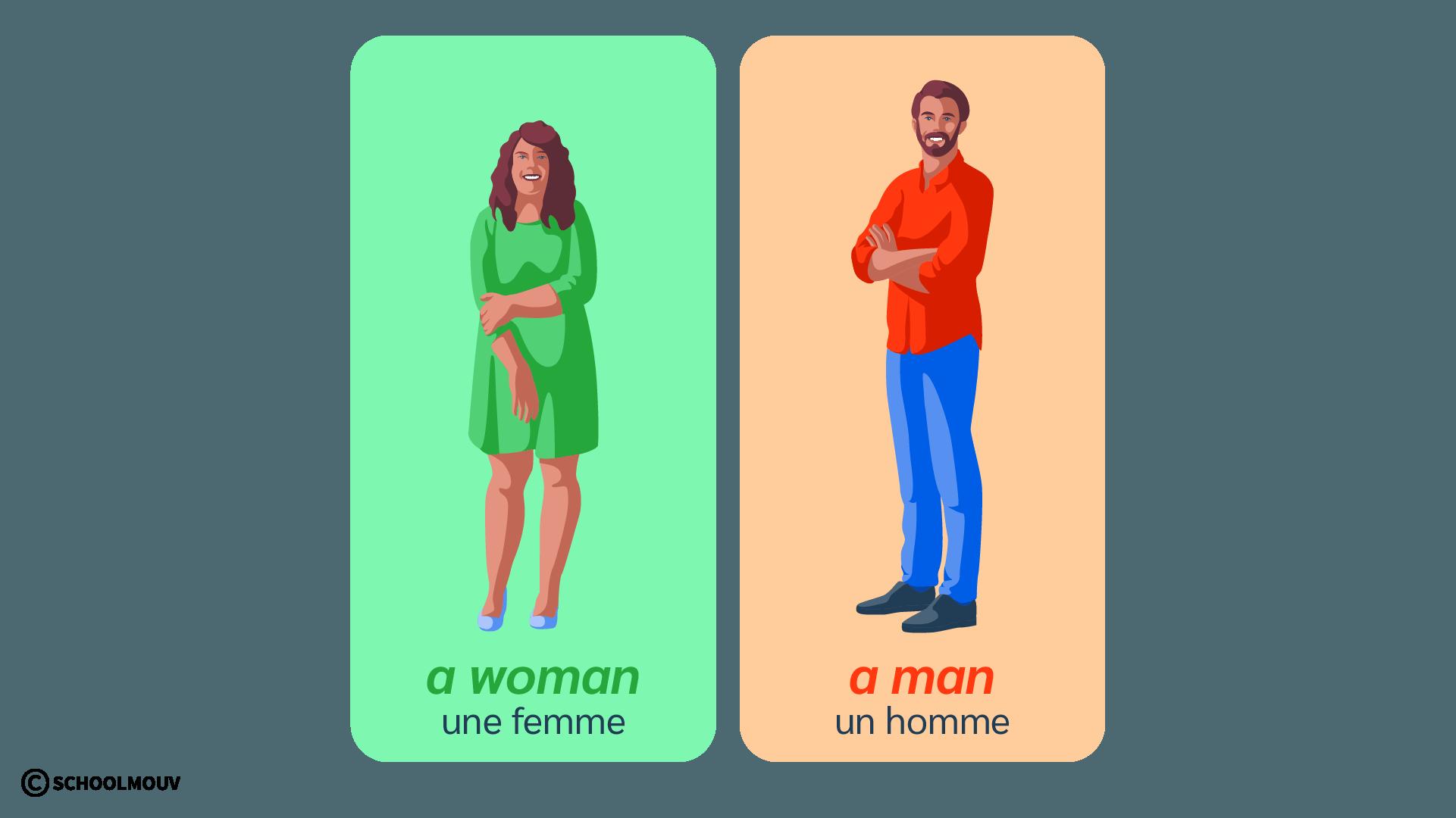 man woman homme femme anglais