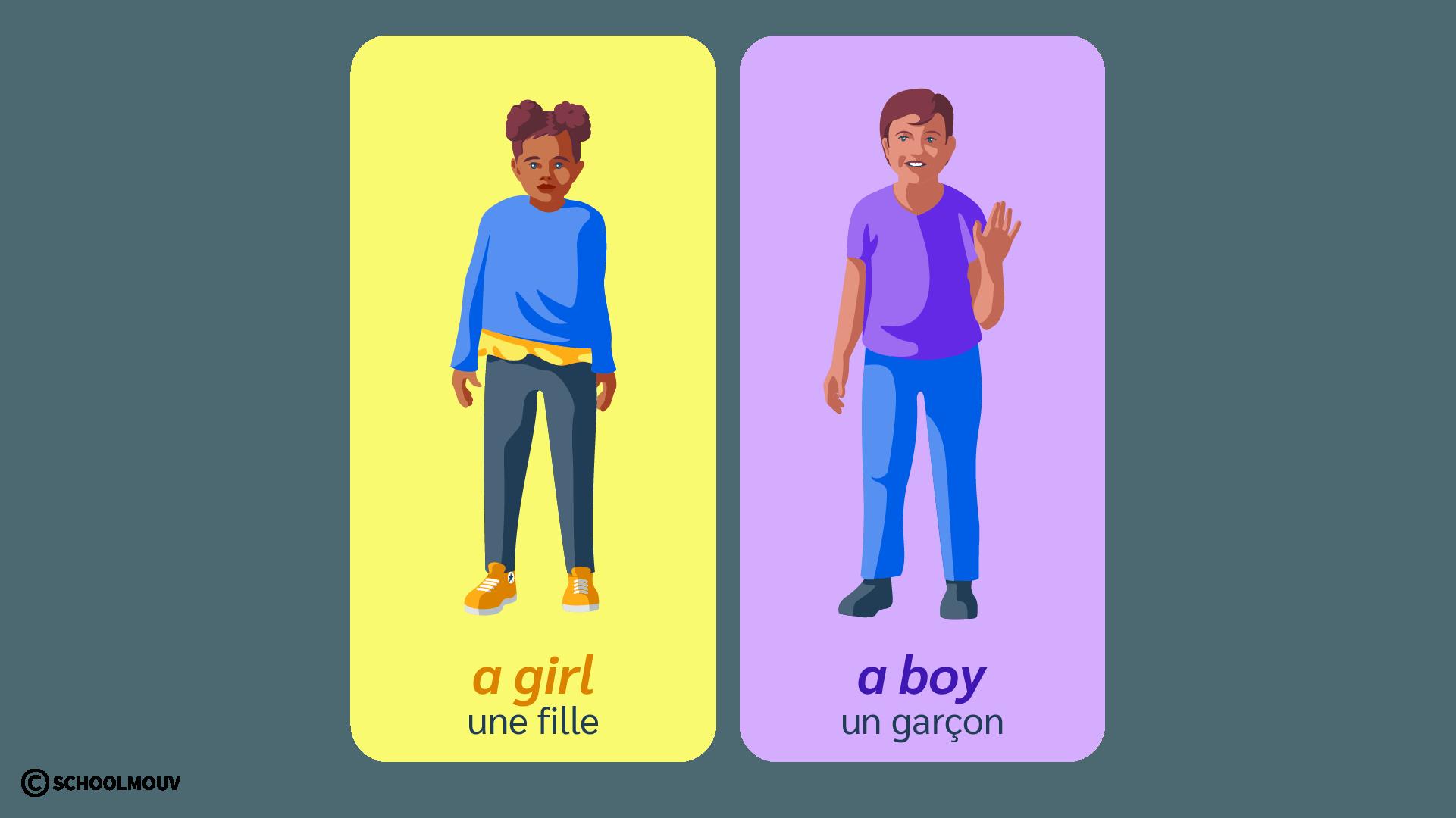 girl boy fille garçon anglais