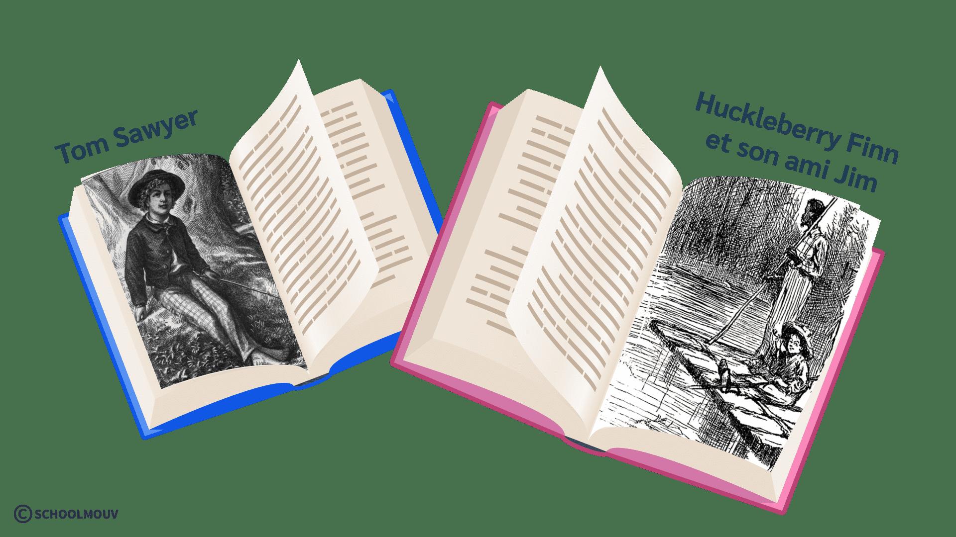 Tom Sawyer Huckleberry Finn anglais