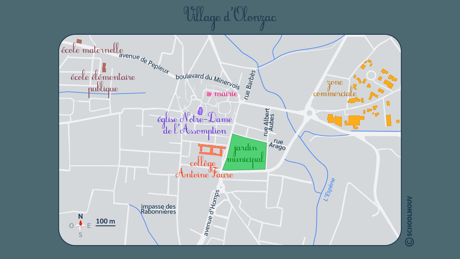 primaire questionner le monde géographie se repérer dans un environnement proche village carte