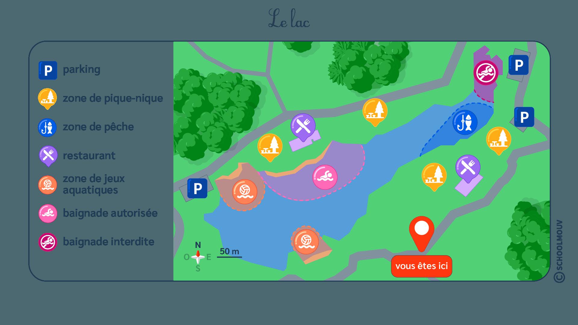 primaire questionner le monde ce1 géographie se repérer dans un environnement plus lointain le lac