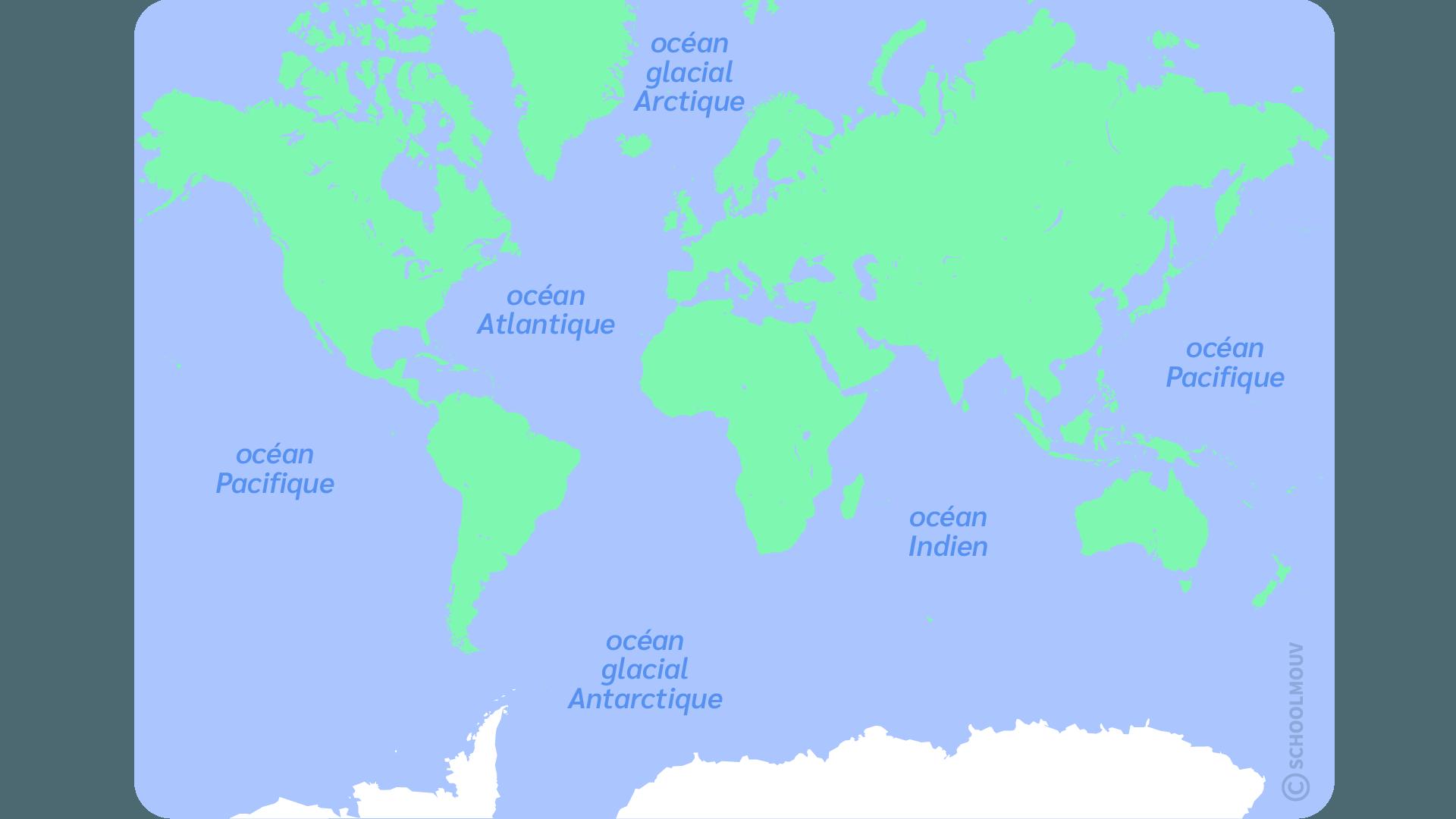 primaire questionner le monde ce1 décrire la Terre océans