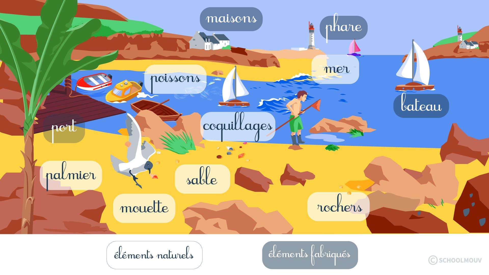 questionner le monde géographie ce1 identifier des paysages mer océans maritimes
