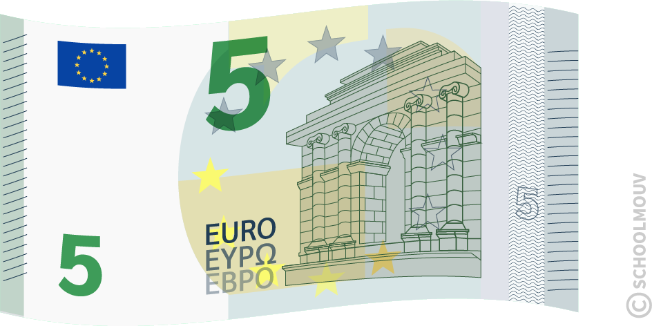 Billet de 5 euros - SchoolMouv - Maths - CE1
