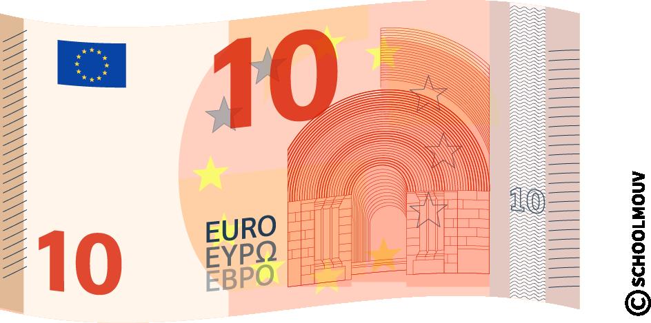 Billet de 10 euros - SchoolMouv - Maths - CE1
