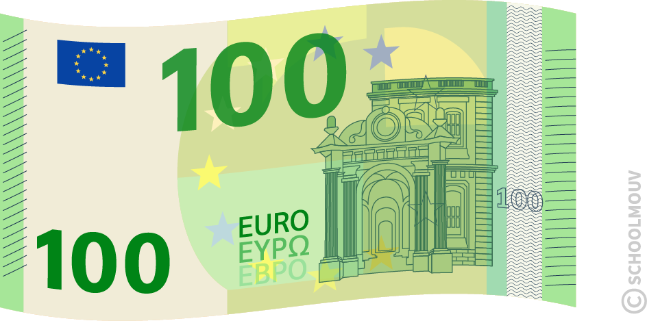 Billet de 100 euros - SchoolMouv - Maths - CE1