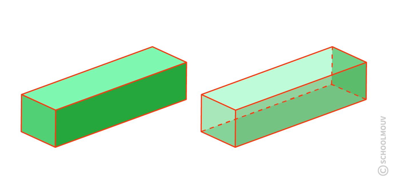 Pavé droit - Coupe transversale - faces cubiques - Solide - Géométrie - SchoolMouv - Maths - CE1