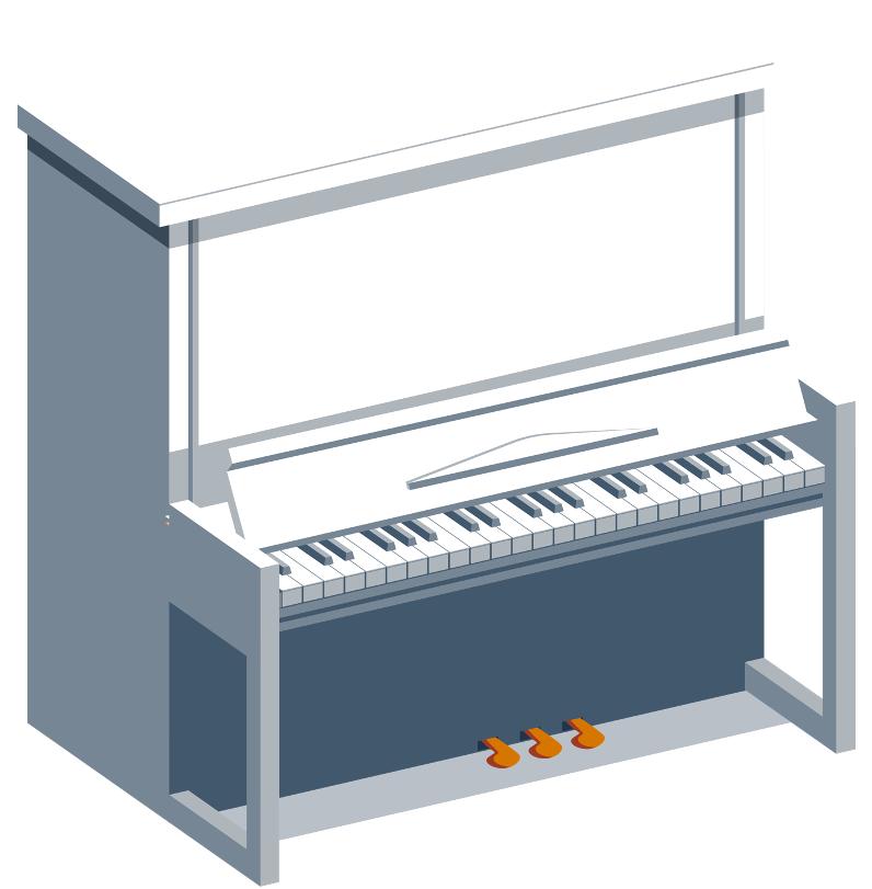 Piano - Musique - Cours - Apprentissage - Art - Mélodie - Gamme - SchoolMouv - Mathématiques - CE1