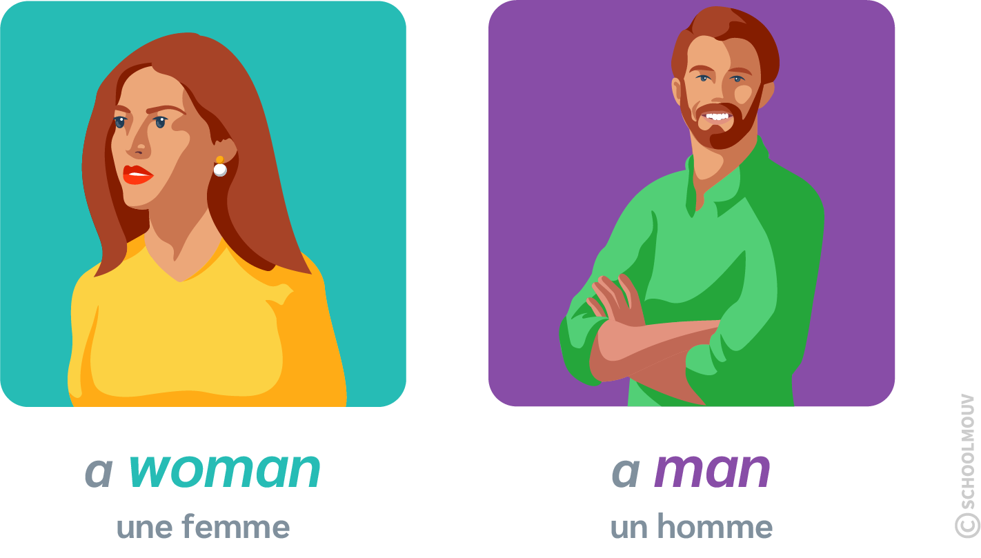 a man a woman anglais homme femme