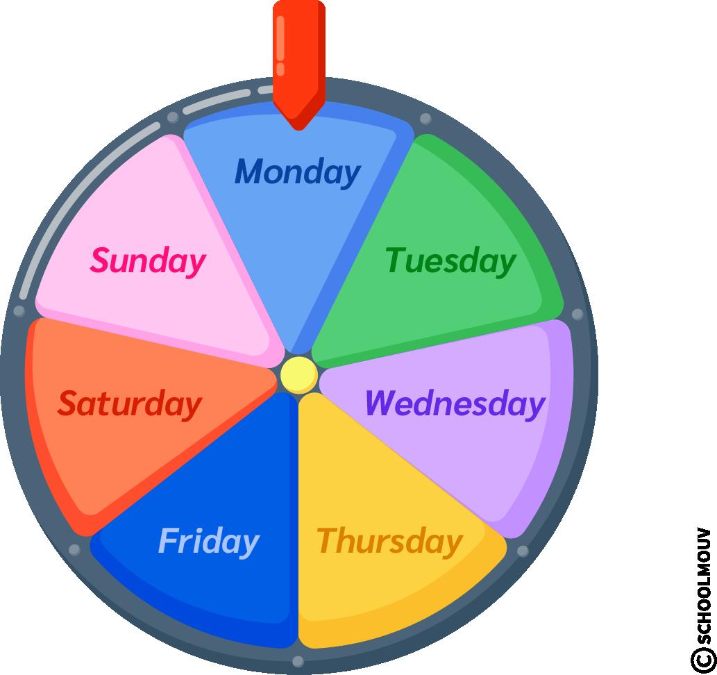 days jours semaine anglais