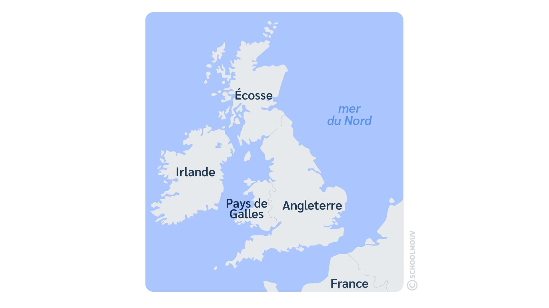 îles Irlande Écosse Angleterre Pays de Galles anglais
