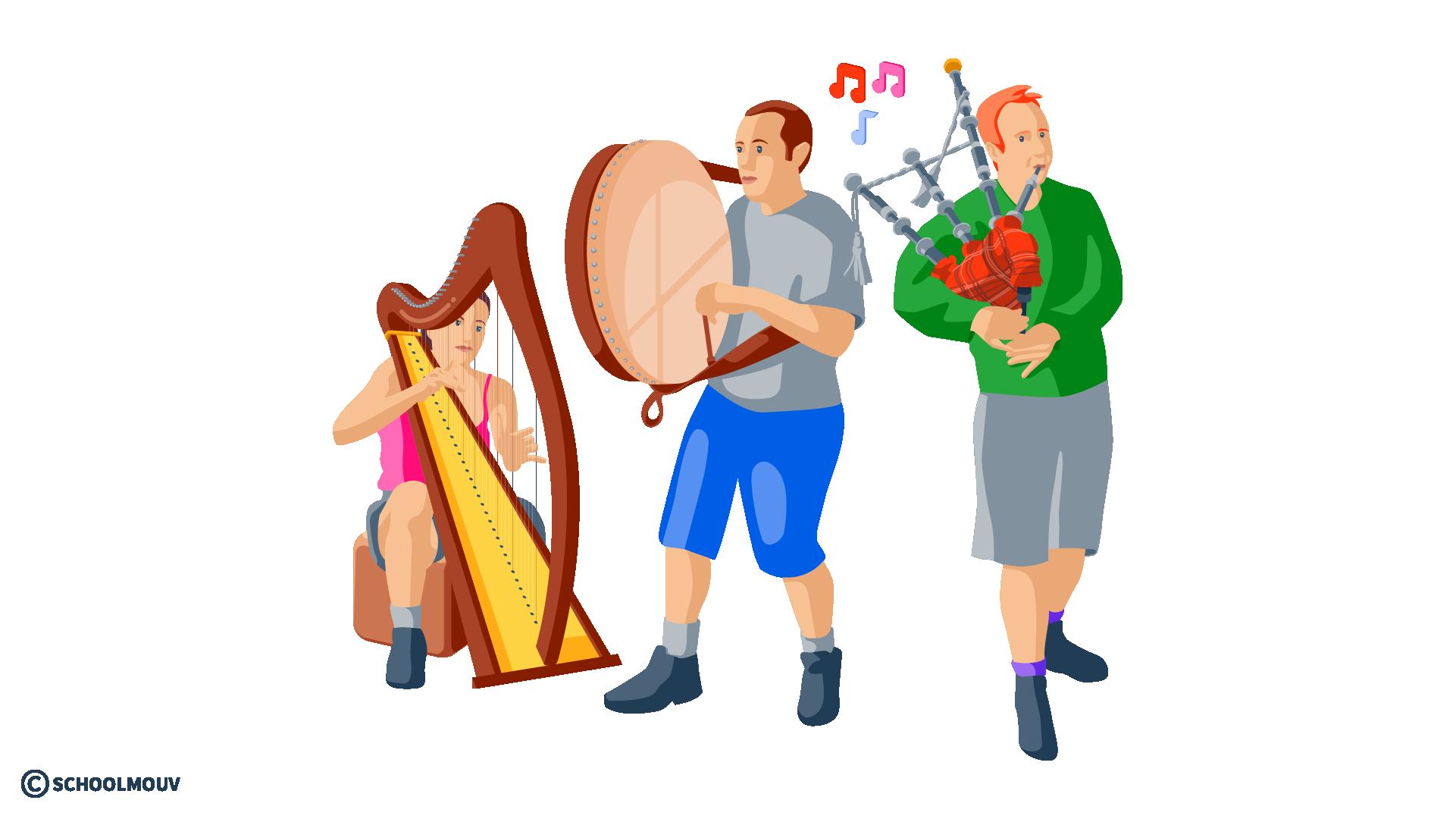 musique irlandaise cornemuse anglais harpe
