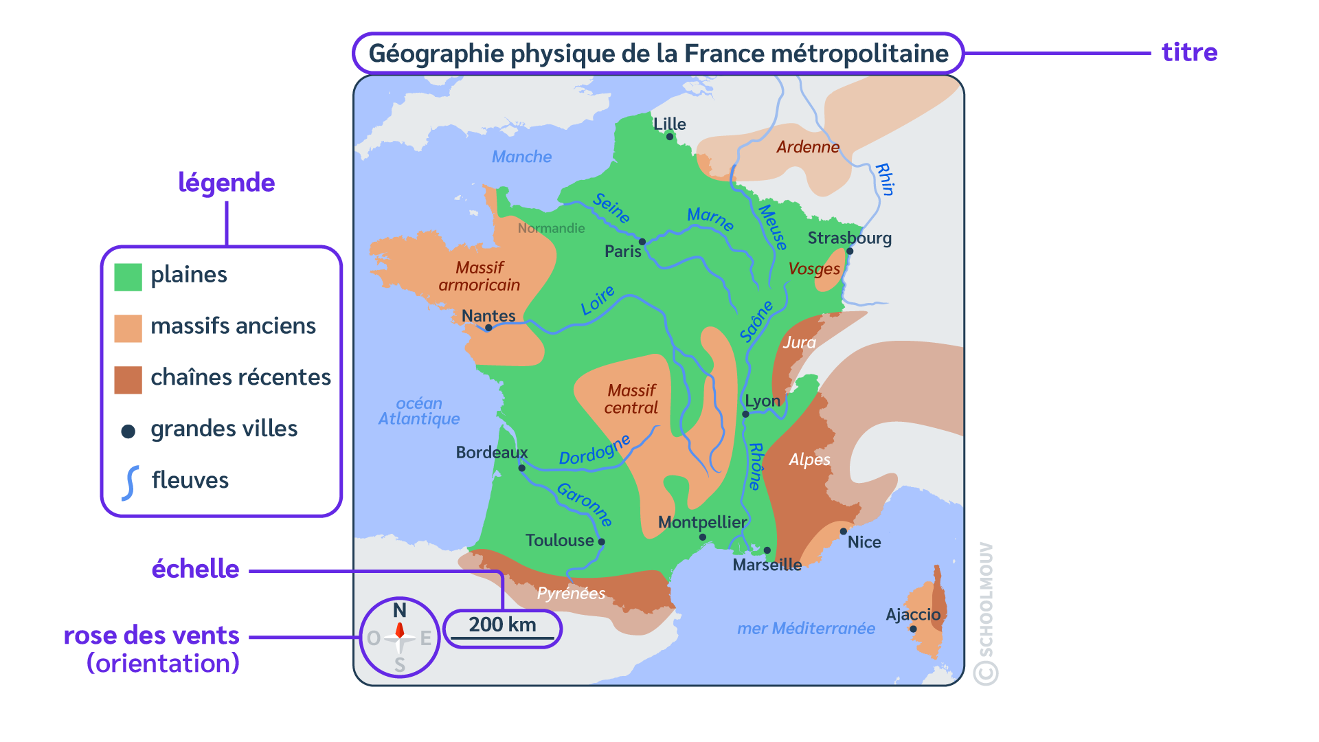 primaire questionner le monde géographie ce2 lire une carte