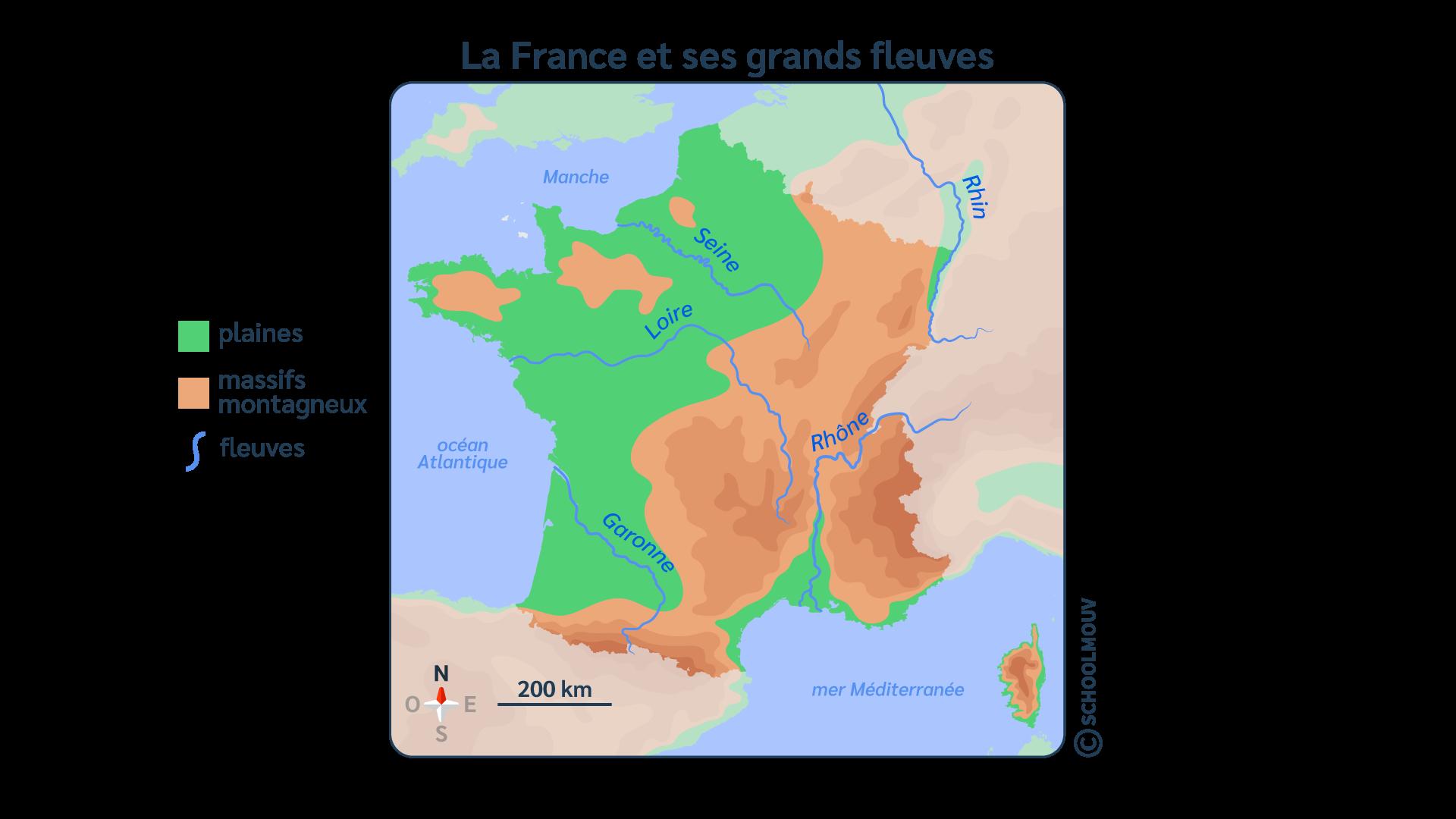 primaire questionner le monde géographie ce2 décrire un pays et ses régions fleuves