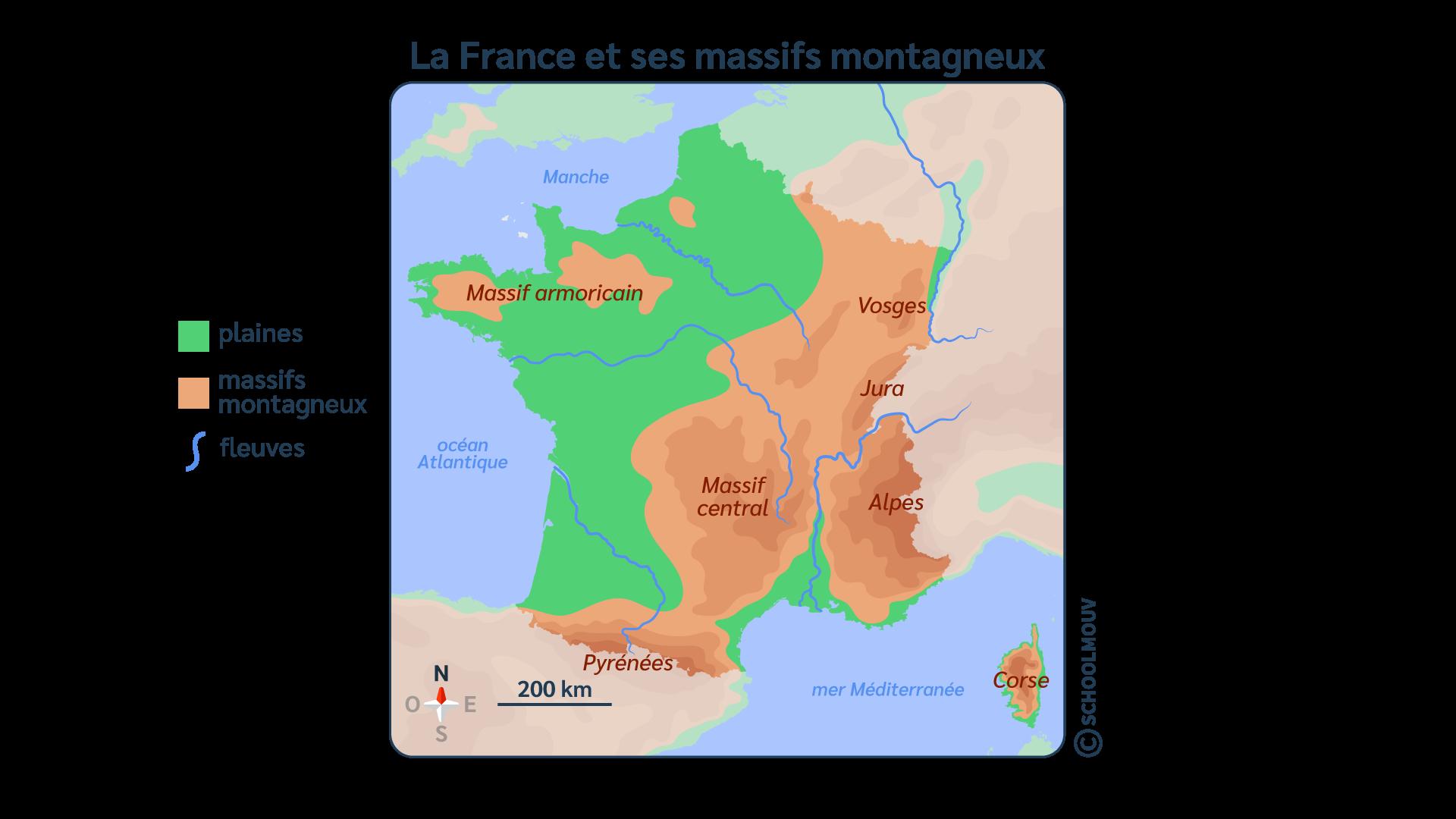 primaire questionner le monde géographie ce2 décrire un pays et ses régions massifs montagneux