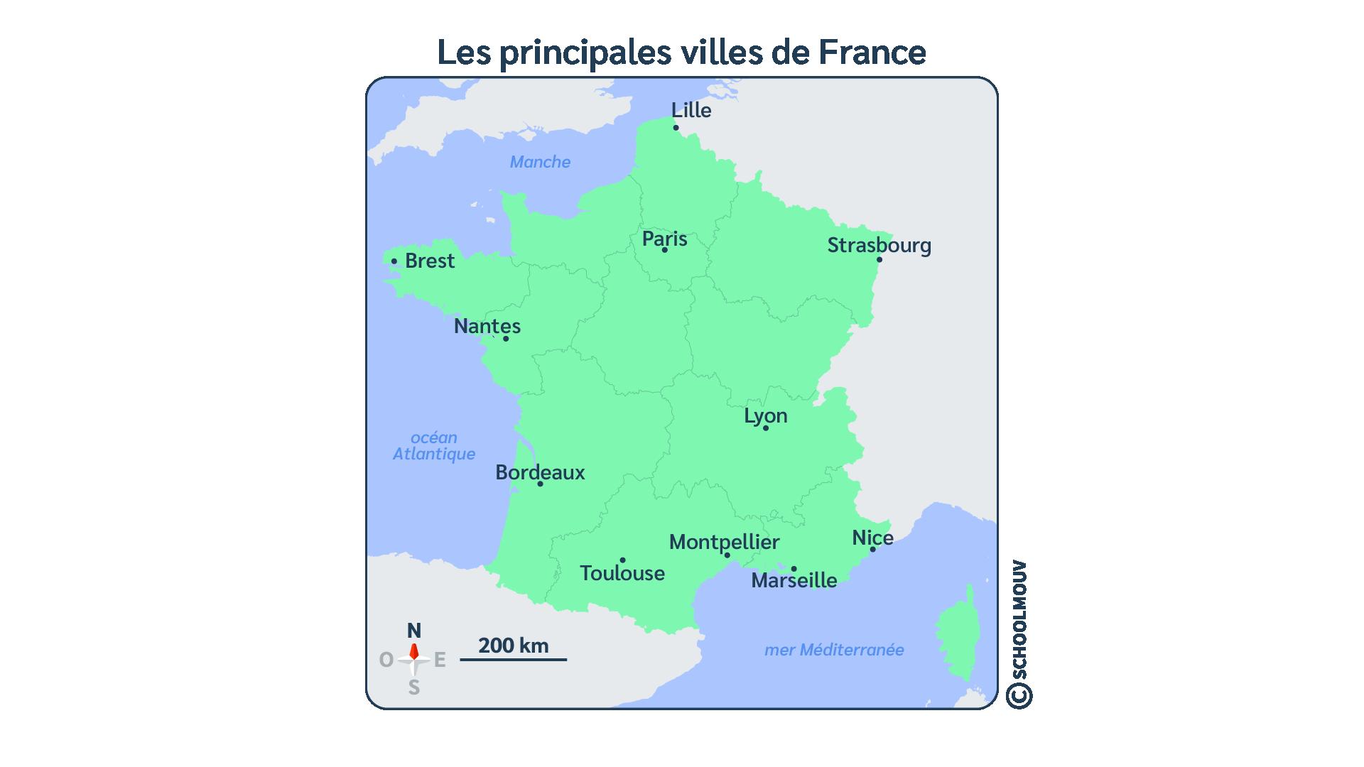 questionner le monde histoire ce2 un espace organisé la ville France