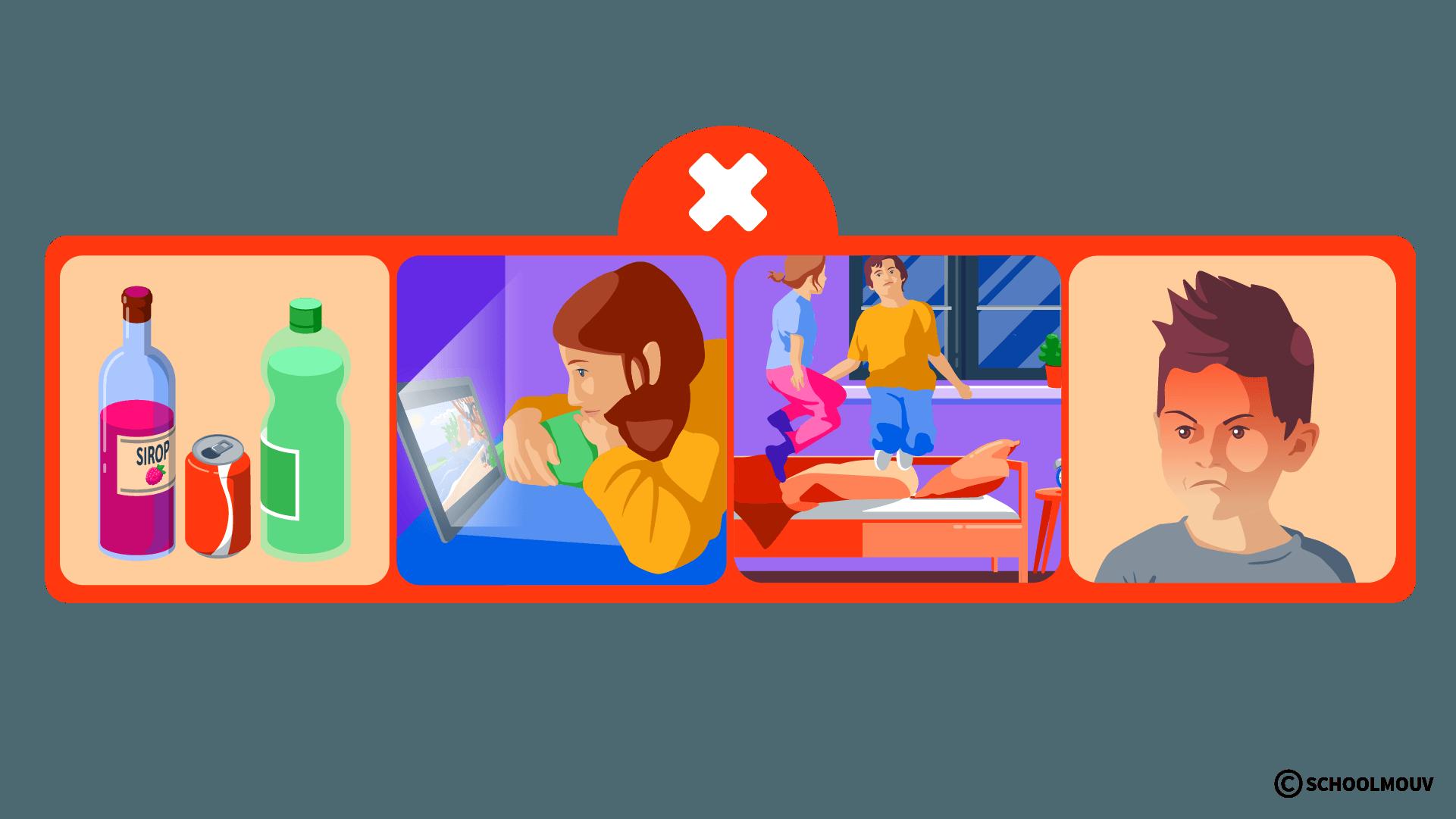 Scure - Stress - Mauvais gestes - Énervement - Excitation - Écran - SchoolMouv - Sciences - CE2
