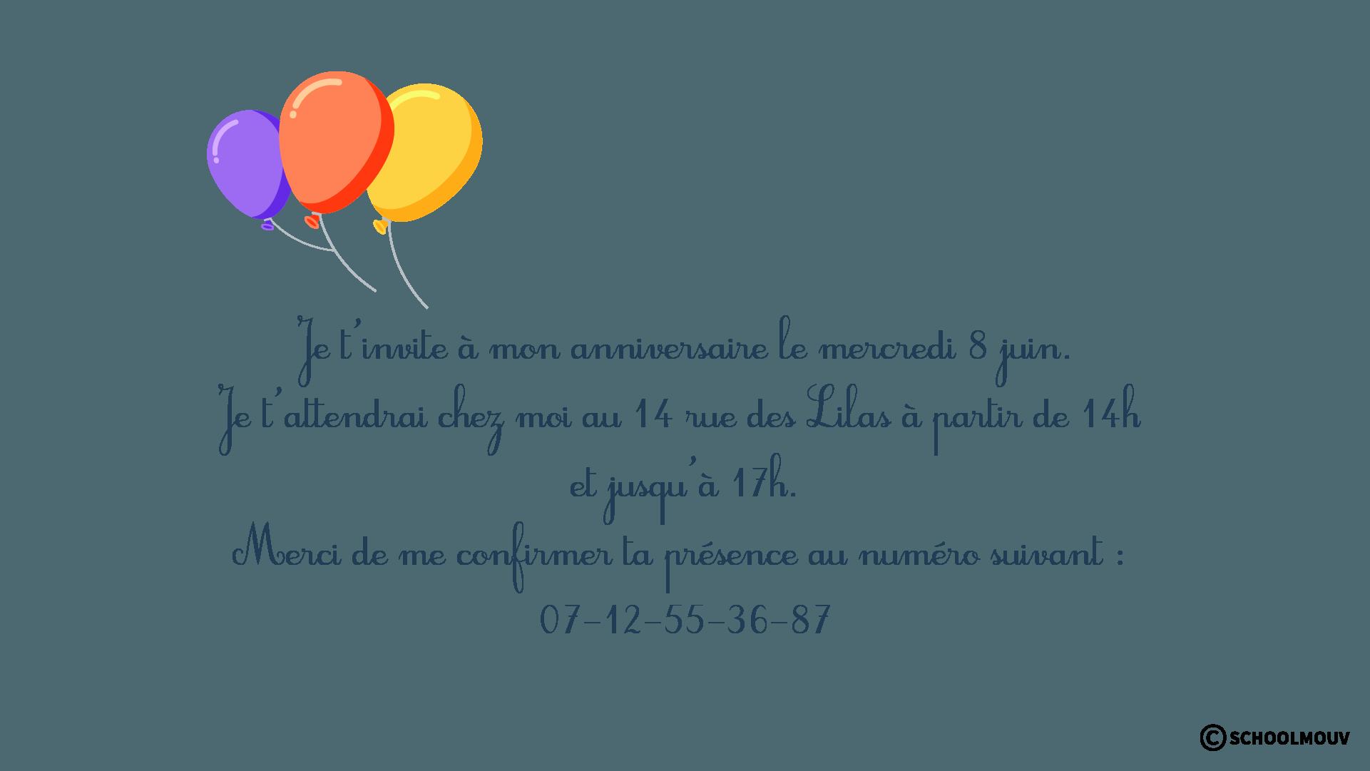 Carton d'invitation - Image - Insérer - Typographie - SchoolMouv - Sciences - CE2