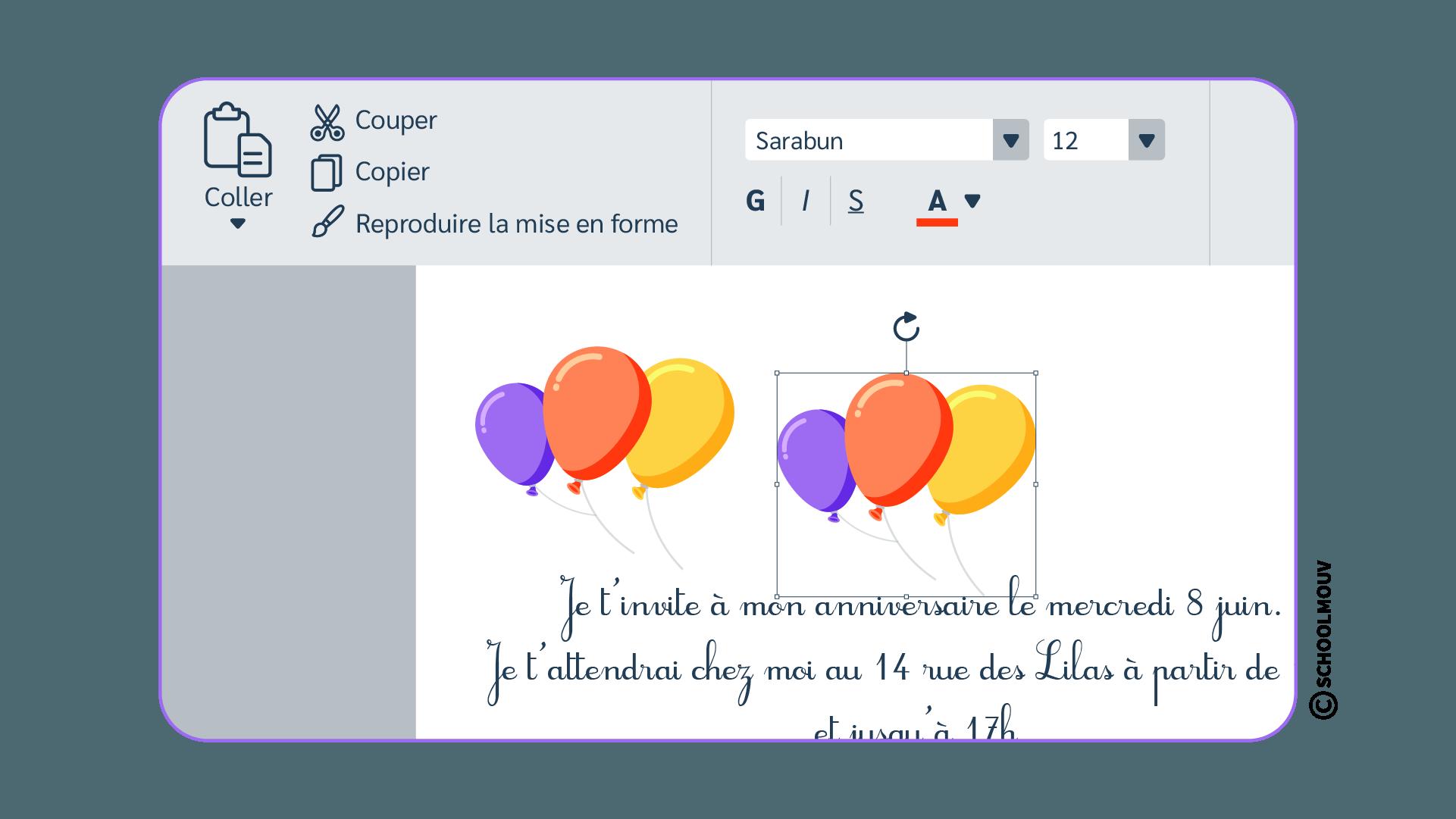Informatique - Sélection - Image - Dupliquer - SchoolMouv - Sciences - CE2