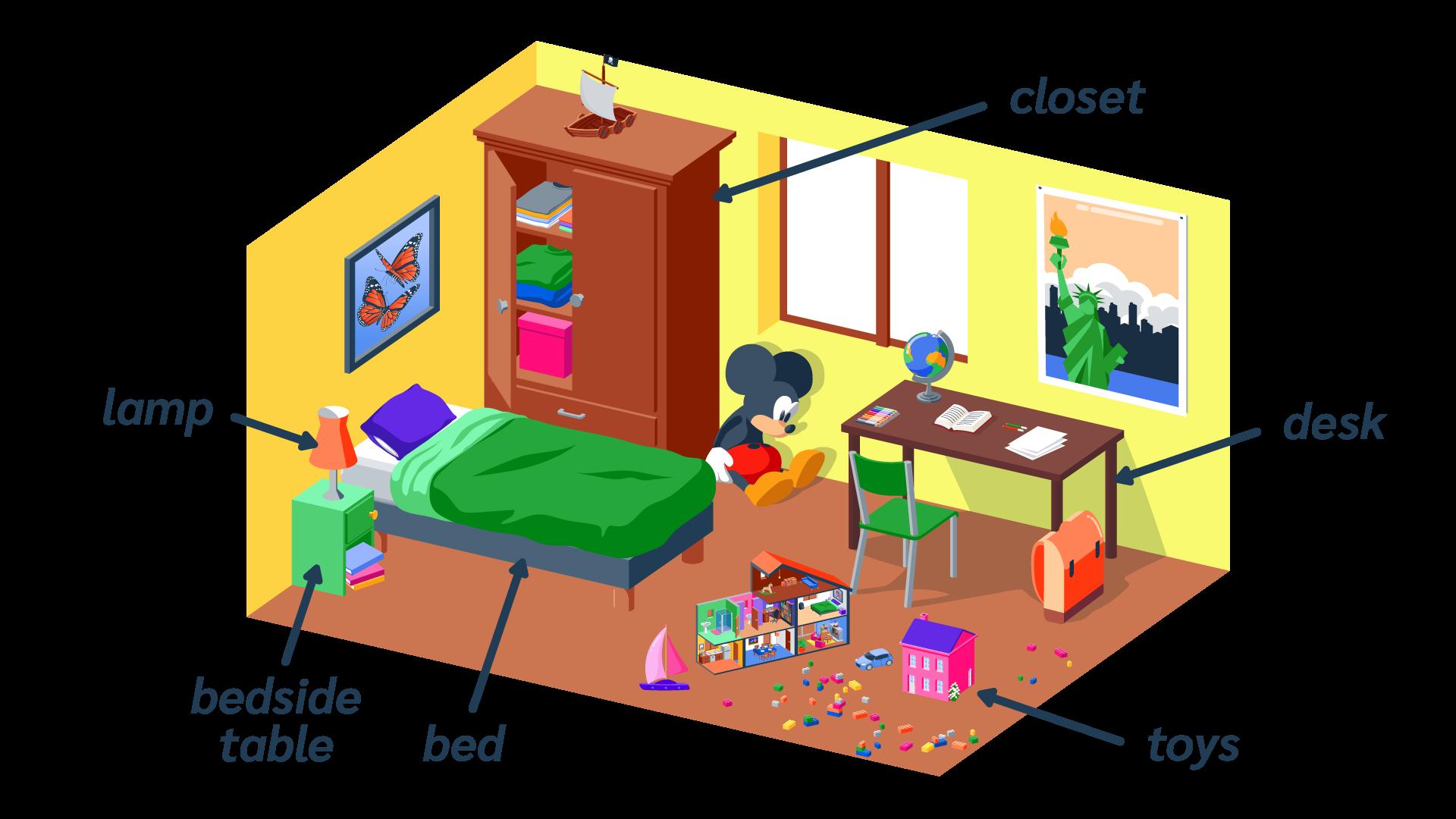 bedroom chambre description anglais