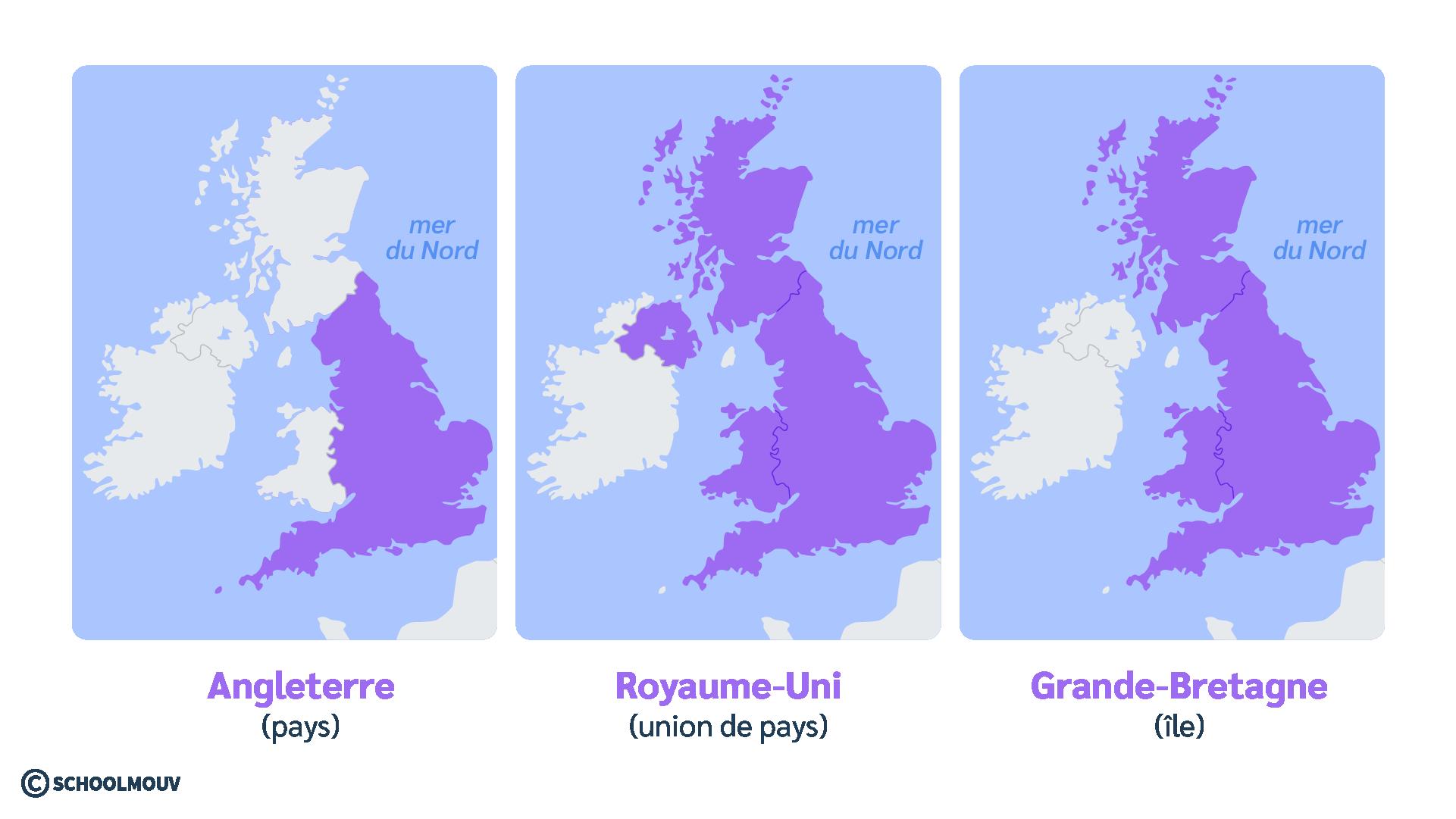 Angleterre Royaume-Uni Grande-Bretagne différence anglais