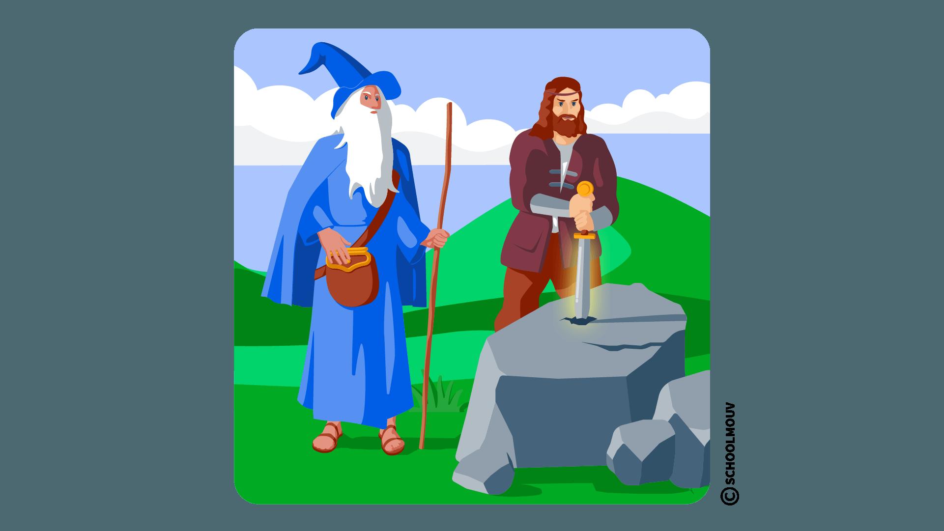 roi Arthur légende Merlin anglais