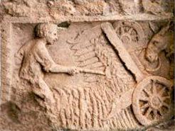 Moissonneuse gauloise - Bas-relief - Gaulois - Antiquité - SchoolMouv - Histoire - CM1