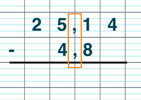 primaire mathématiques cm1 poser et calculer une soustraction de deux nombres décimaux