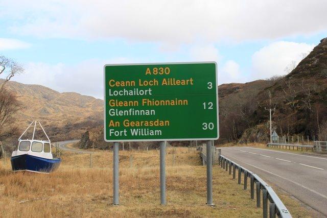 gaélique écossais panneau routier