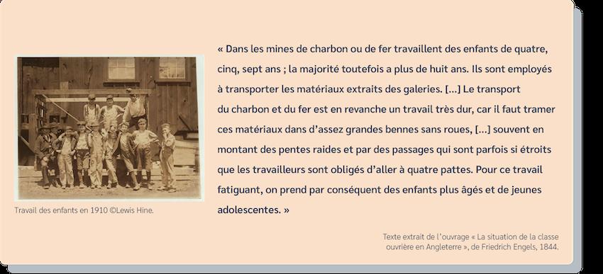 Travail des enfants - Mineurs - Ouvriers - France - Pauvreté - SchoolMouv - Histoire - CM2
