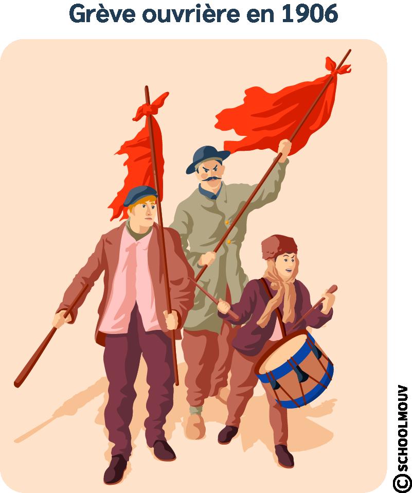 Grève - Ouvriers - Syndicats - France - Pauvreté - SchoolMouv - Histoire - CM2