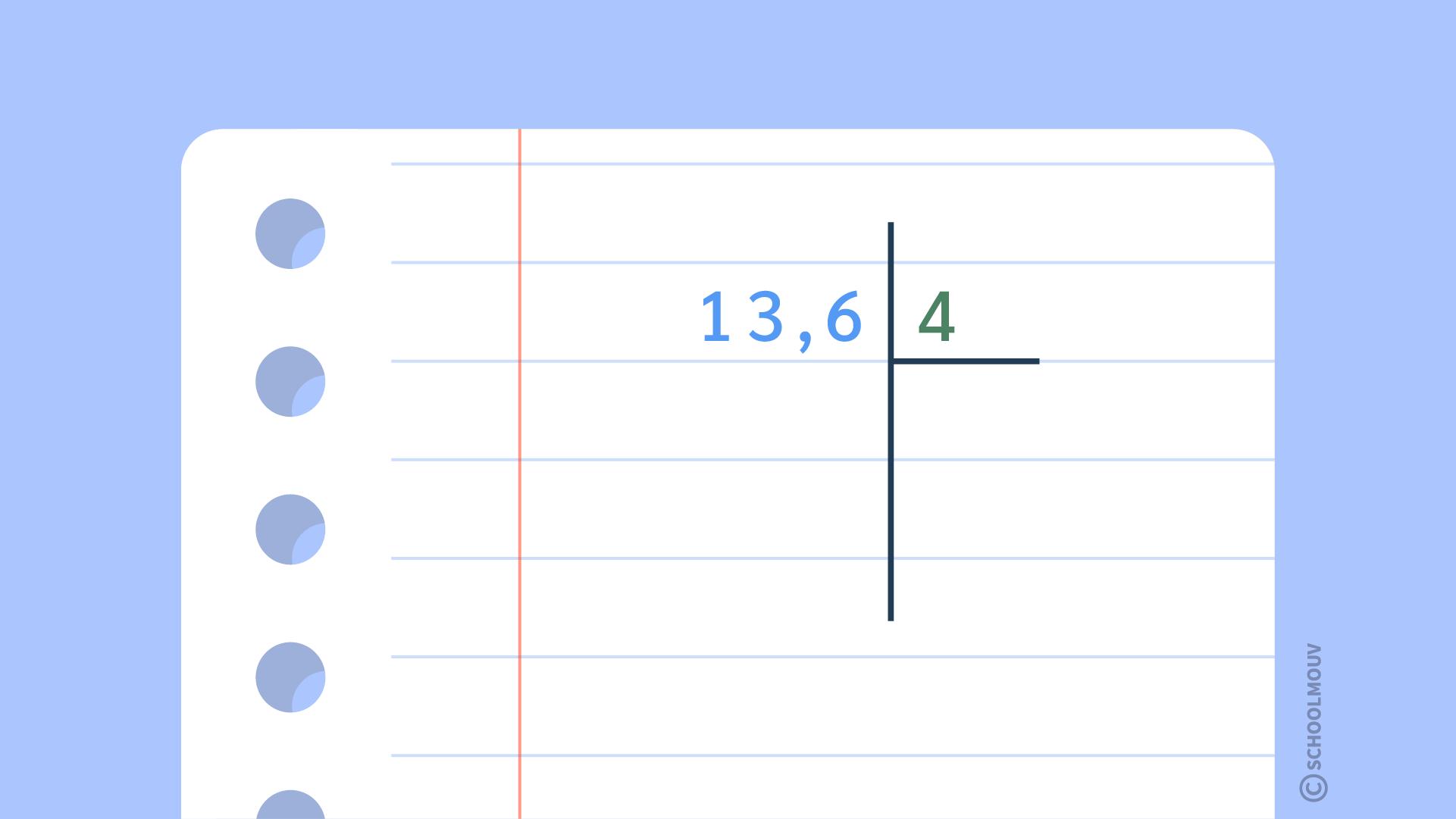 mathématique cm2 diviser un nombre décimal par un nombre entier