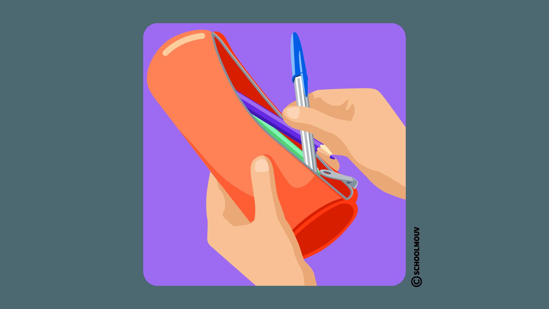 take prendre pen stylo anglais classe